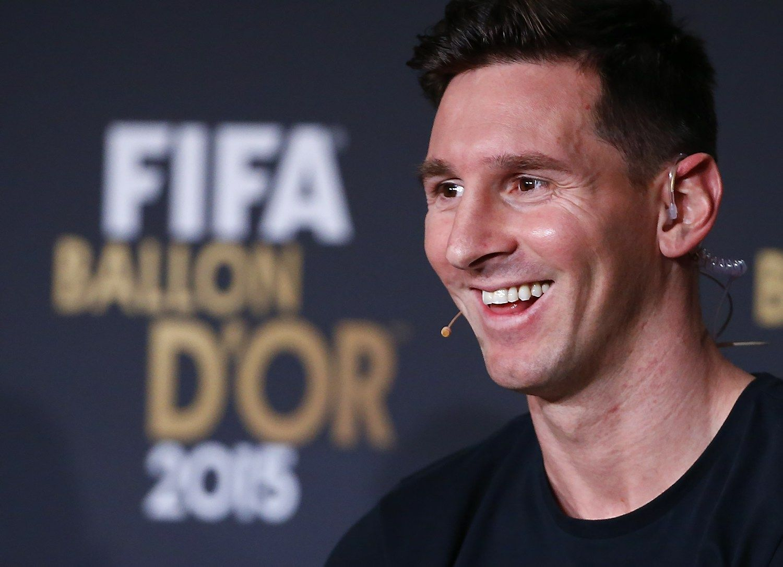Geriausias 2015 m. futbolininkas � Lionelis Messi