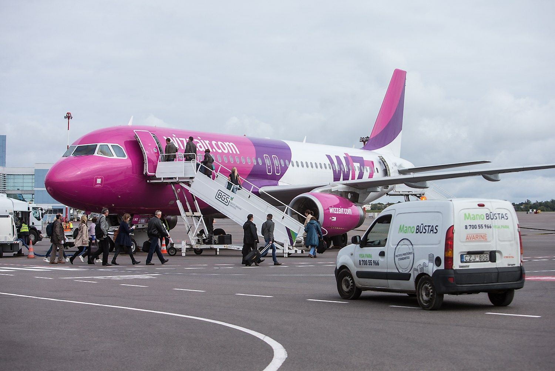 �Wizz Air� Lietuvoje priart�jo prie 1 mln. keleivi� ribos