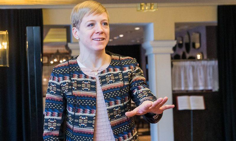"""Kate Sherry, bendrovės """"Ryanair"""" maršrutų ir veiklos plėtros direktorė. Juditos Grigelytės (VŽ) nuotr."""