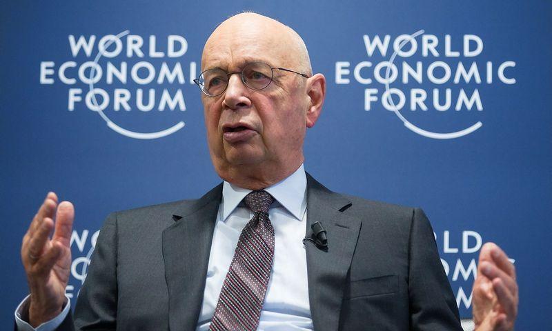 """Klausas Schwabas, Pasaulio ekonomikos forumo įkūrėjas ir vykdomasis vadovas. """"Sipa"""" / """"Scanpix"""" nuotr."""