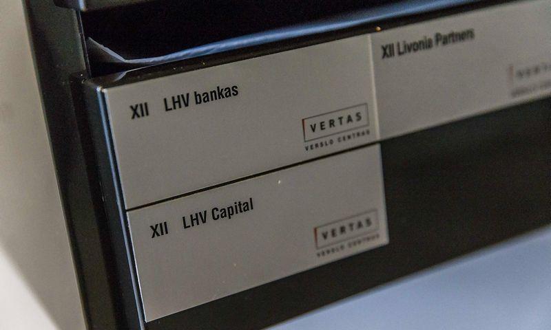 """LHV banko ir LHV Capital pašto dėžutės  verslo centre """"VERTAS"""" Lietuvoje. Vladimiro Ivanovo (VŽ) nuotr."""