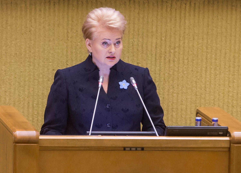 Juditos Grigelytės (VŽ) nuotr. Dalia Grybauskaitė, Lietuvos prezidentė