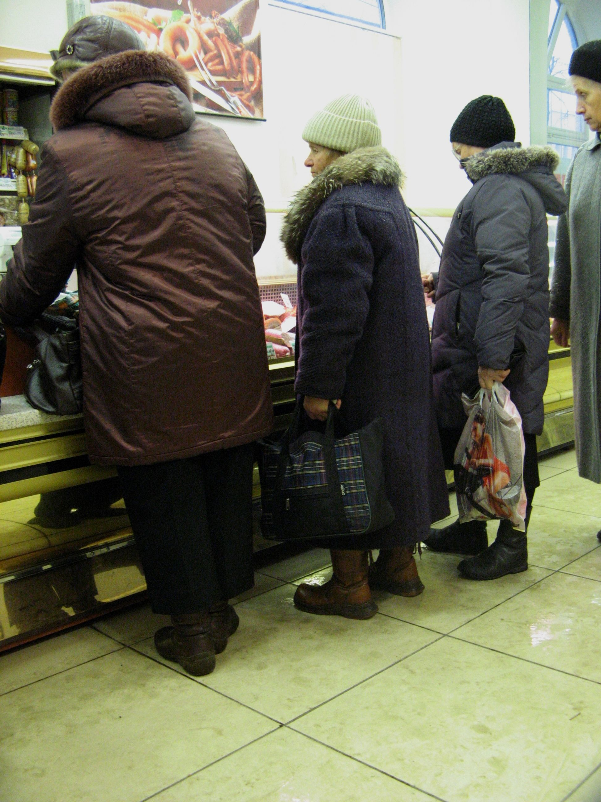 � Rusij� gr��ta maisto kortel�s
