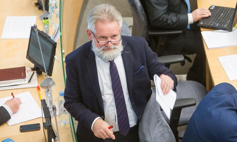 Algirdas Sysas, Lietuvos Socialdemokratų partijos frakcijos Seime narys, Socialinių reikalų ir darbo komiteto narys. Juditos Grigelytės (VŽ) nuotr.