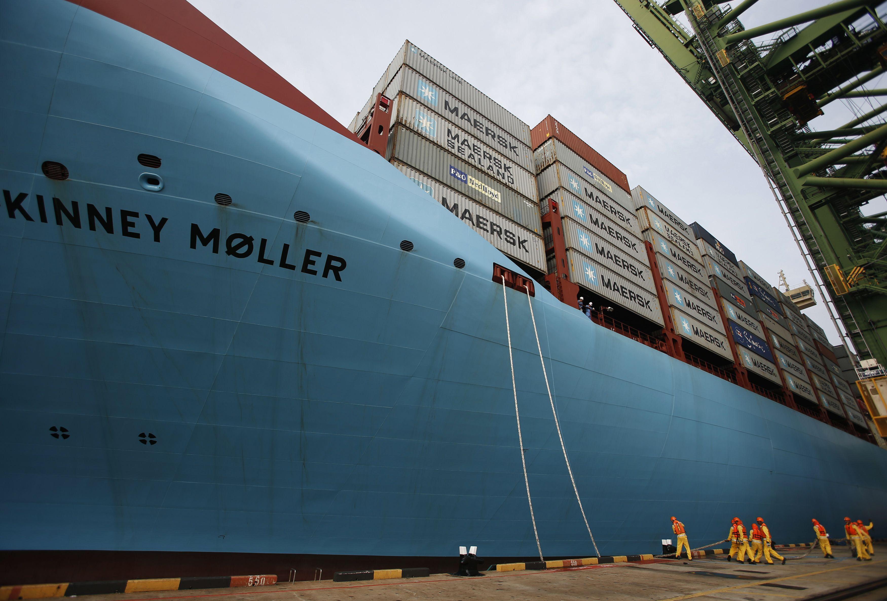 �Maersk� grynasis pelnas nusirito 84%