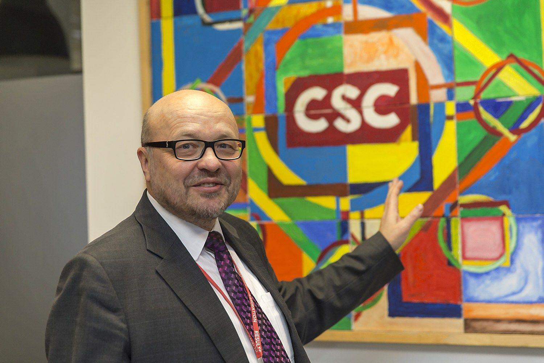 """Antano Uršulio, """"CSC Baltic"""" generalinio direktoriaus teigimu bendrovės plėtra ir naujų skyrių kūrimas šiemet taip pat tęsiasi, tačiau tikslaus planuojamų sukurti naujų darbo vietų skaičiaus jis neįvardina. VLADIMIRO IVANOVO (VŽ) NUOTR."""