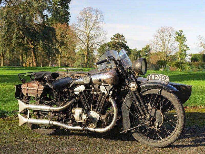 Už senovinį motociklą aukcione viliamasi gauti mažiausiai ketvirtį milijono eurų. H&H Classics nuotr.
