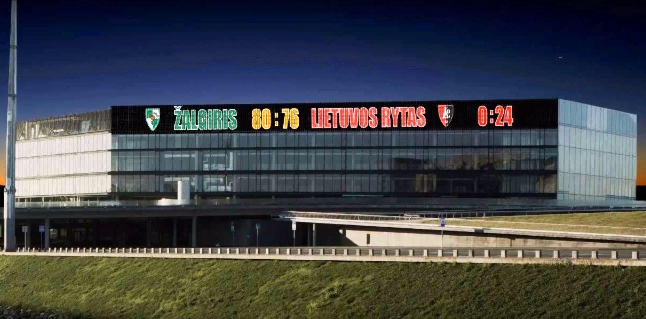 Vietoj i�kabos ant ��algirio� arenos bus sumontuoti LED ekranai