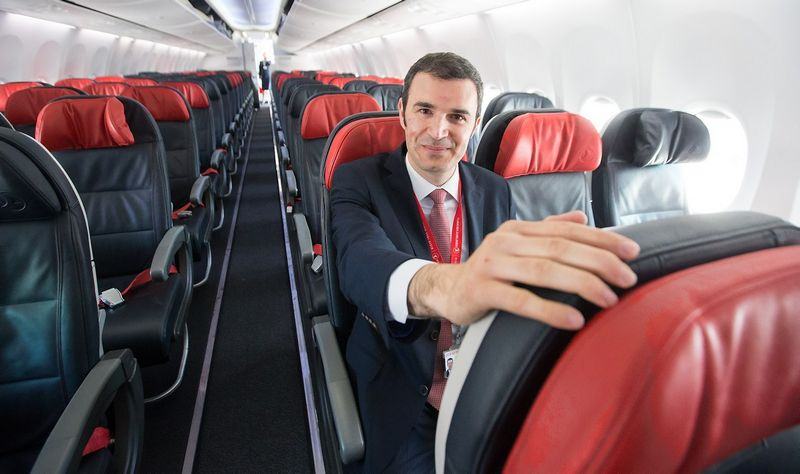 """""""Turkish Airlinės"""" atstovybės Lietuvoje vadovas Hasanas Serkanas Binyaras: """"Manau, kad visoms trims Baltijos šalims būtų optimalu turėti vieną bendrą oro linijų bendrovę."""" Juditos Grigelytės (VŽ) nuotr."""