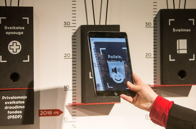 Visuomenės pažinimo centro ekspozicija pagrįsta interaktyviuoju pažinimu. Juditos Grigelytės (VŽ) nuotr.