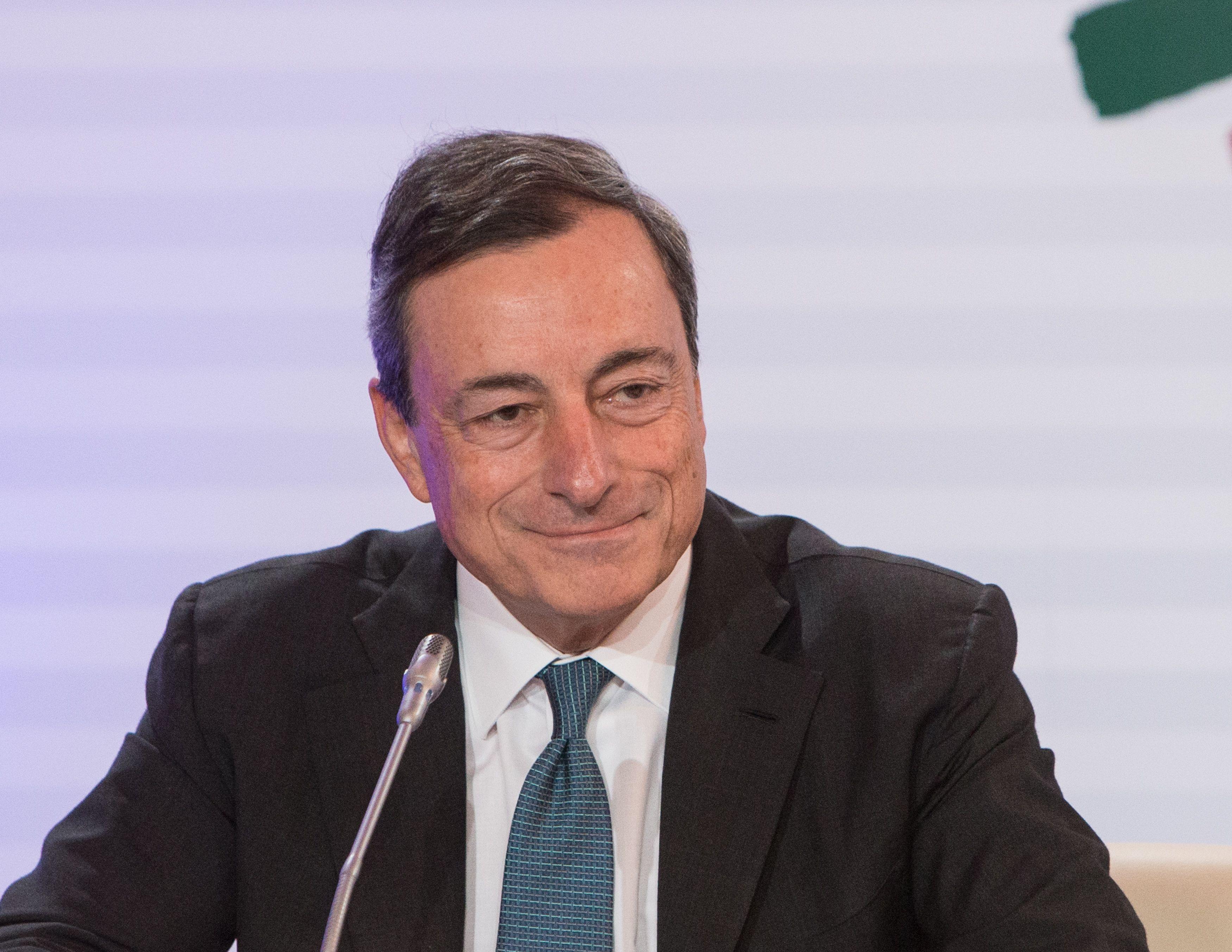 Mario Draghi, Europos centrinio banko (ECB) prezidentas. Juditos Grigelyt�s (V�) nuotr.