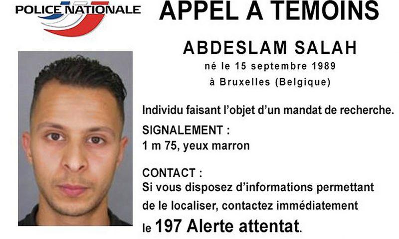 """Policija Abdeslamo Salaho visoje Europoje ieškojo nuo praėjusių metų lapkričio. (""""Reuters"""" / """"Scanpix"""") nuotr."""