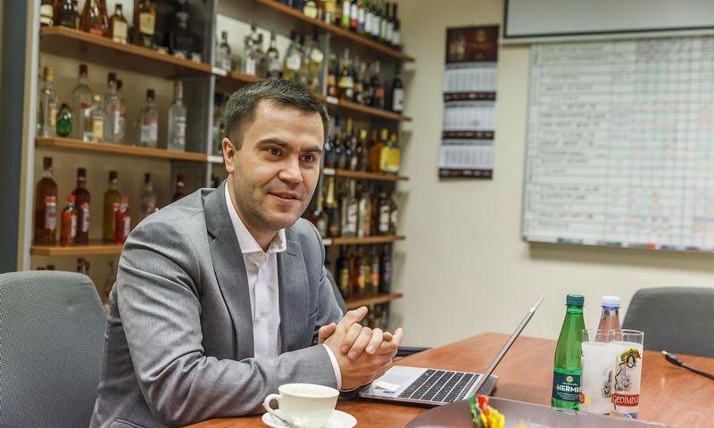 """Juozas Daunys, """"Vilniaus degtinės"""" generalinis direktorius. Vladimiro Ivanovo (VŽ) nuotr."""