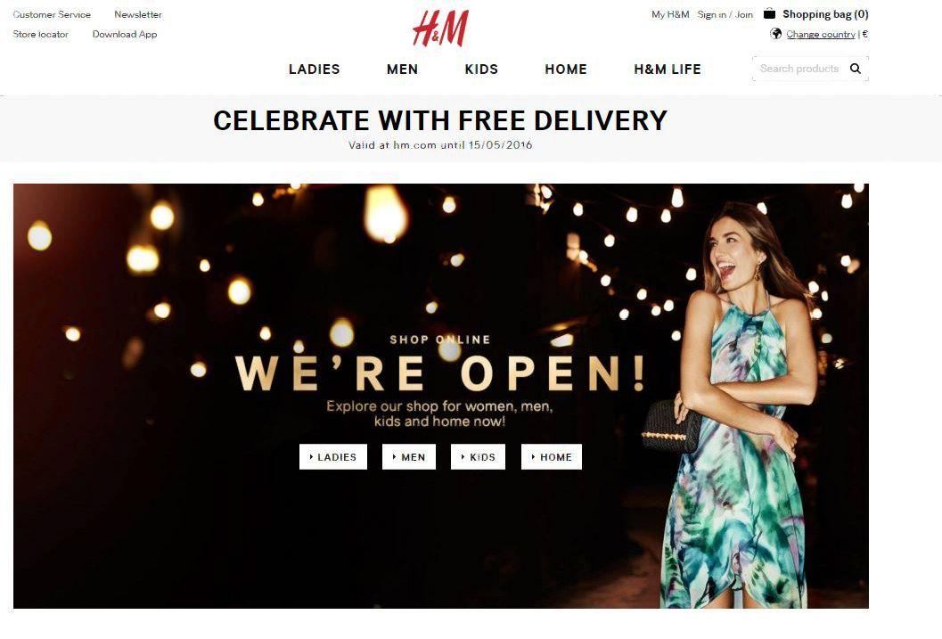 H&M Lietuvoje pradėjo prekiauti ir internetu