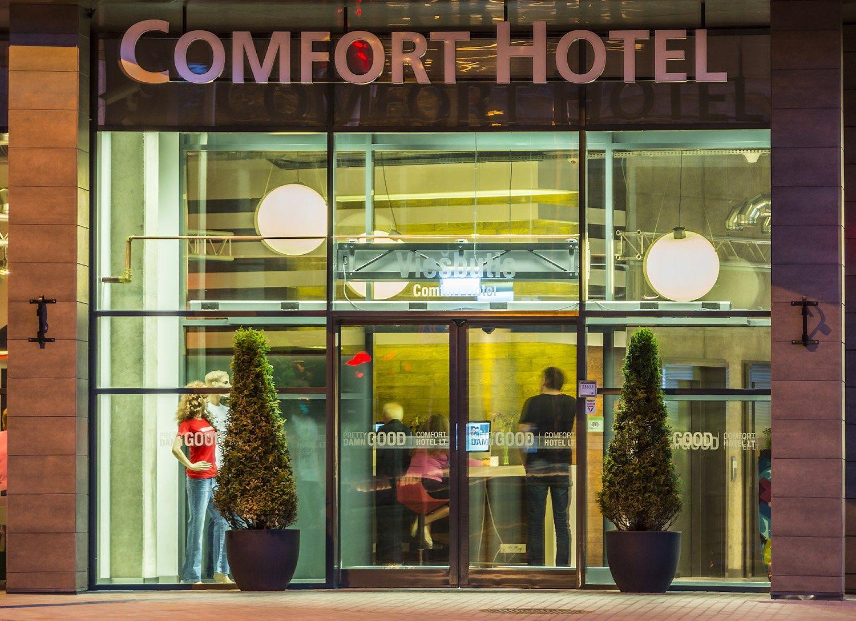 �Comfort Hotel� i�keliavo � �Lords LB� rankas
