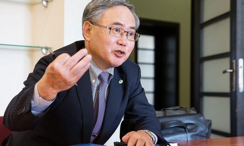 """Hiroto Uozumi, Japonijos energetikos įmonės """"Hitachi Nuclear Power Systems"""" direktorius. Juditos Grigelytės (VŽ) nuotr."""