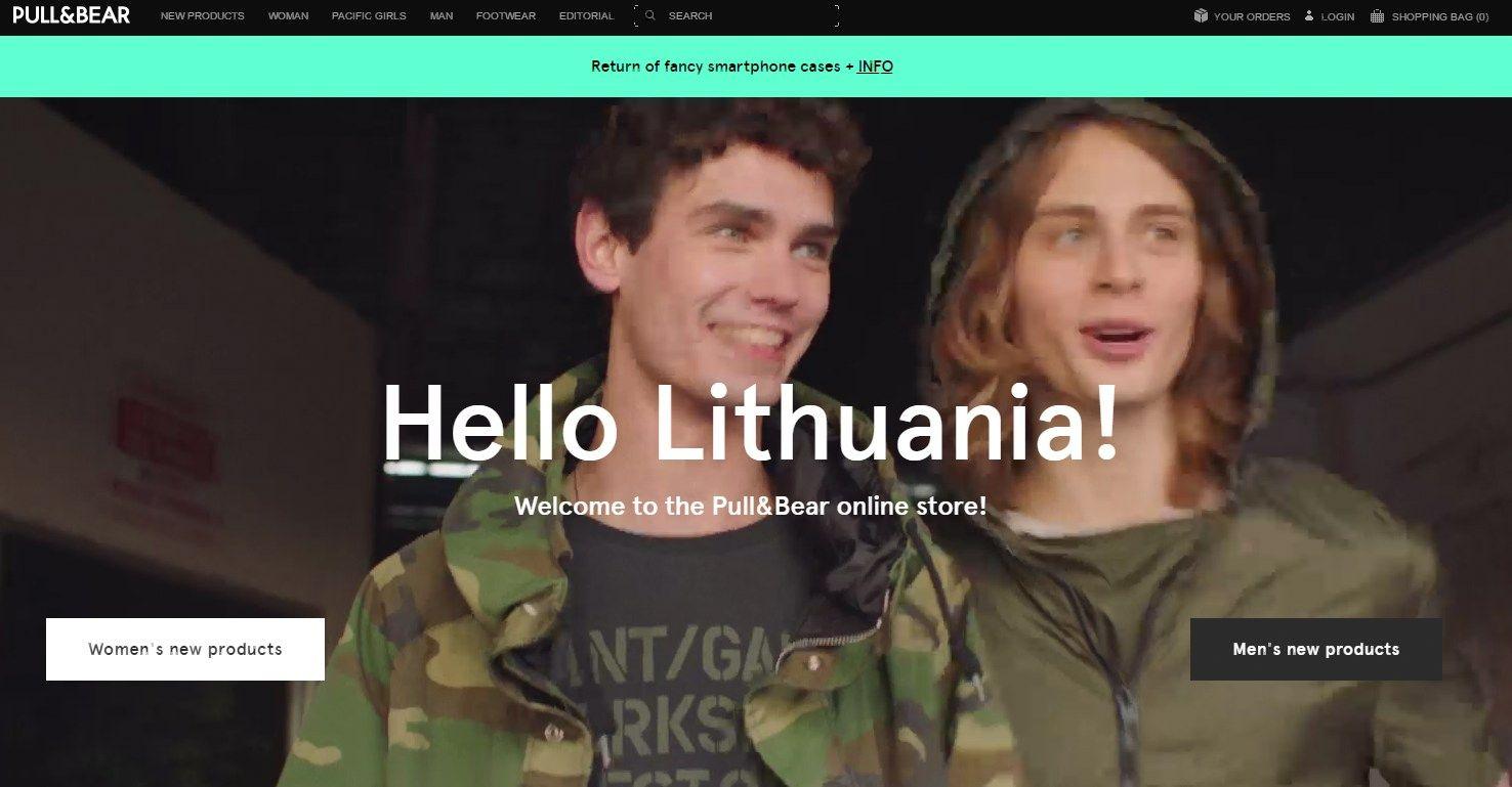 """Lietuvoje pradėta e. prekyba visais """"Inditex"""" rūbų prekės ženklais"""