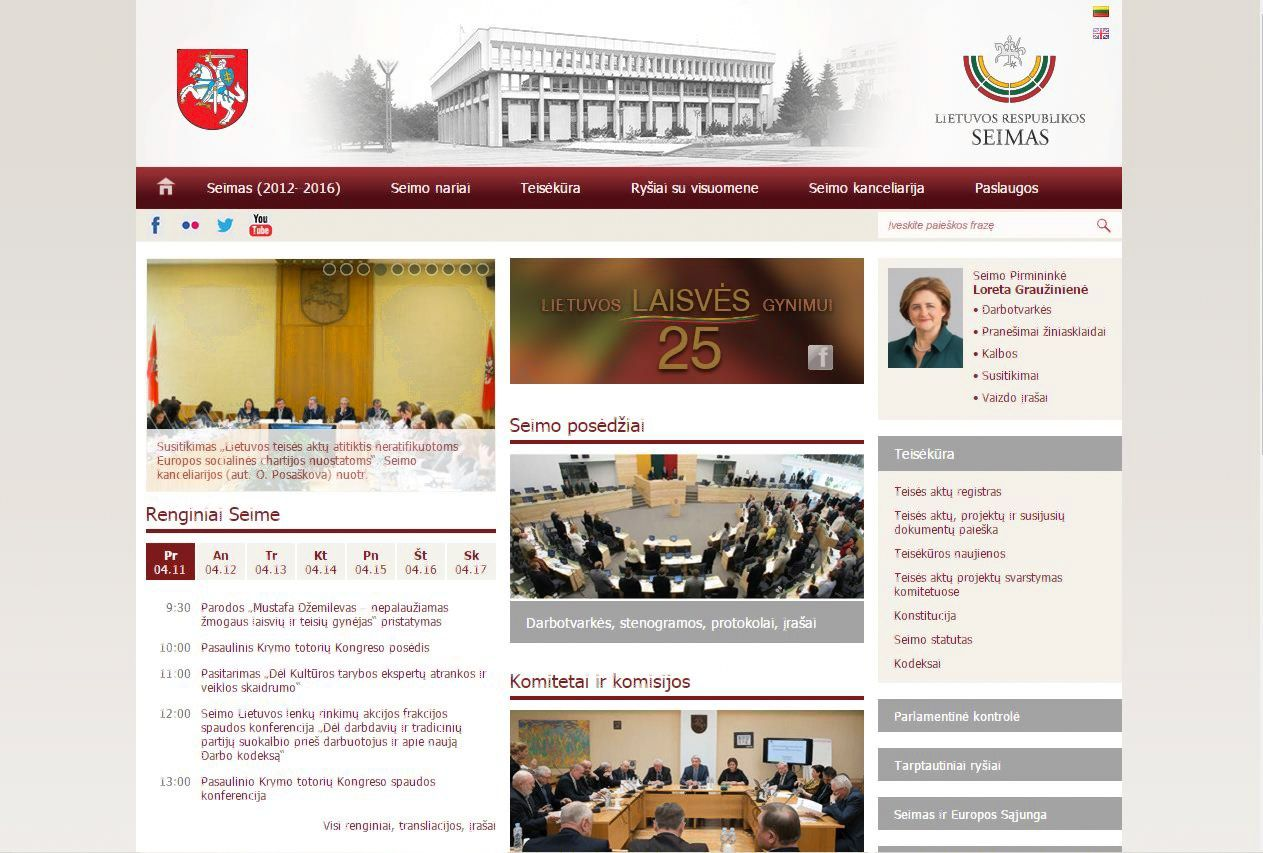 Prieš Krymo totorių konferenciją blokuota Seimo interneto svetainė