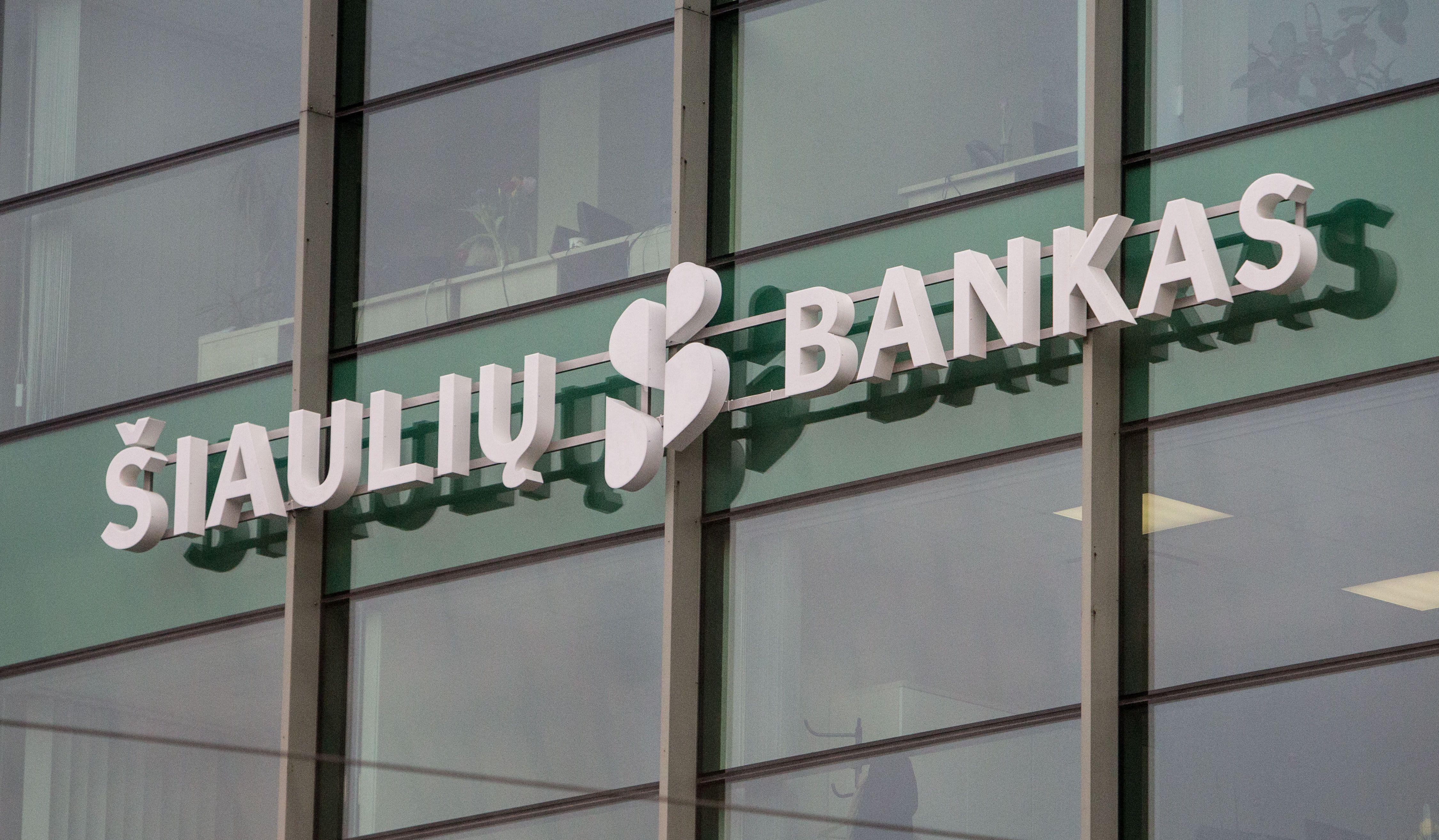 Šiaulių banko akcijos krenta dviženkliu dydžiu