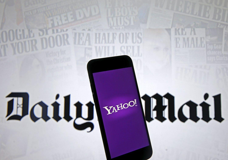 D�l �Yahoo!� �sigijimo var�osi �Daily Mail� ir �Verizon�