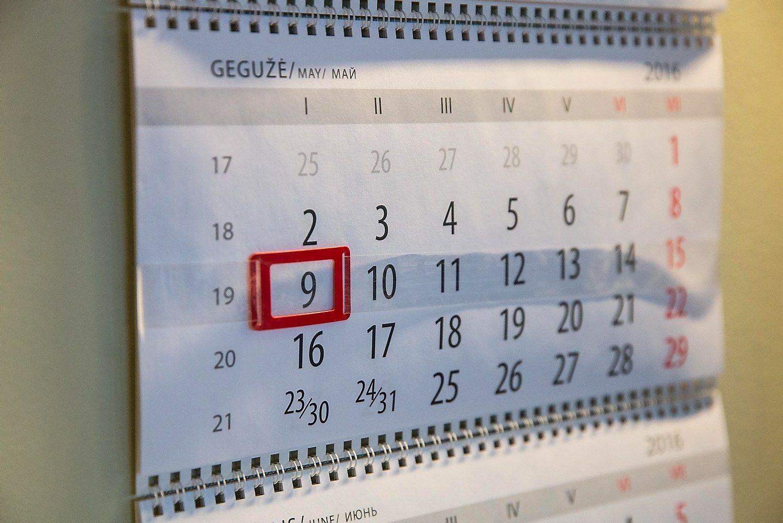 Gegužės mėnesio mokesčių kalendorius