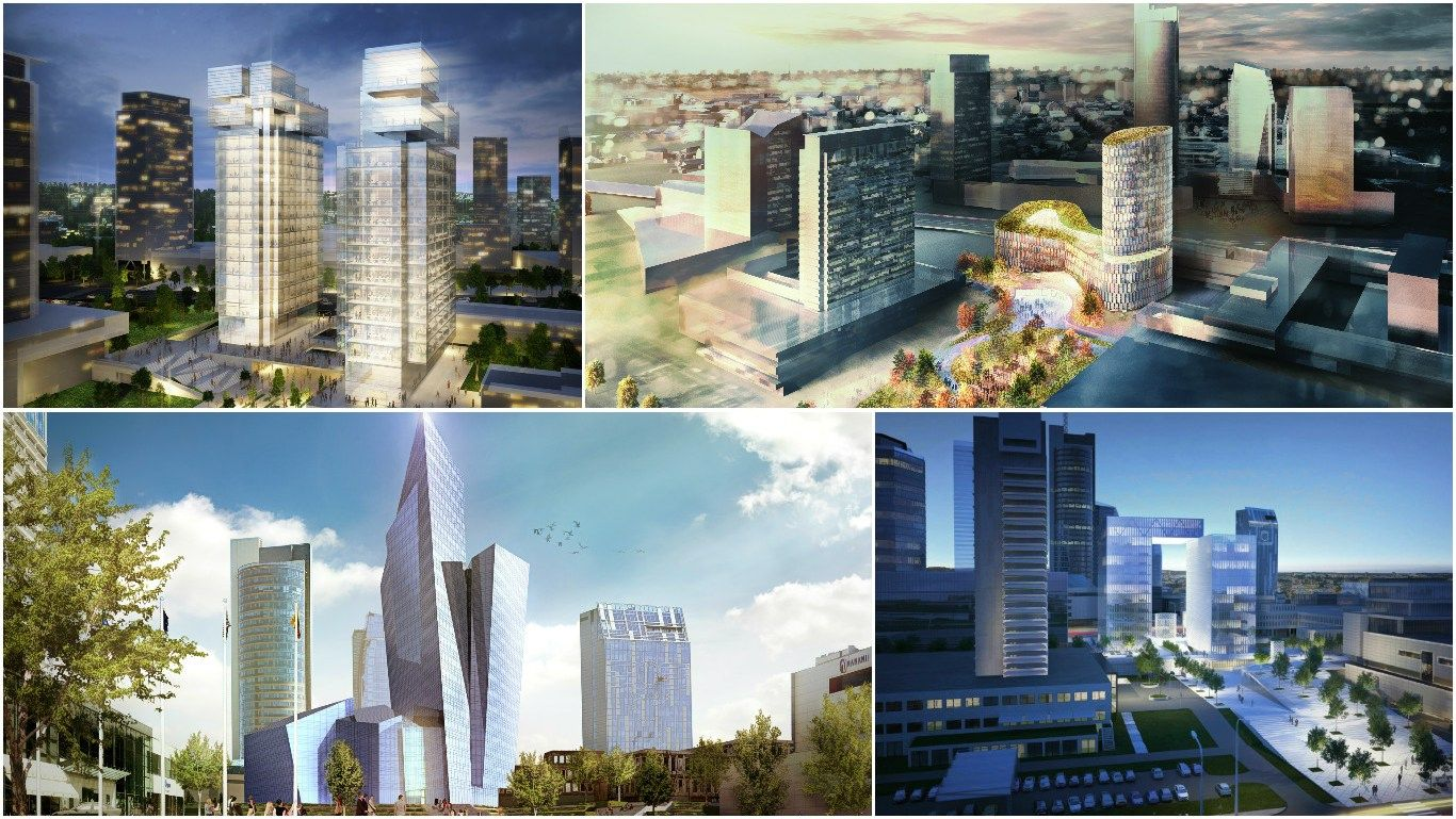 Naujas verslo centras Vilniuje, pakeisiantis Konstitucijos pr. veid�: 10 projekt�