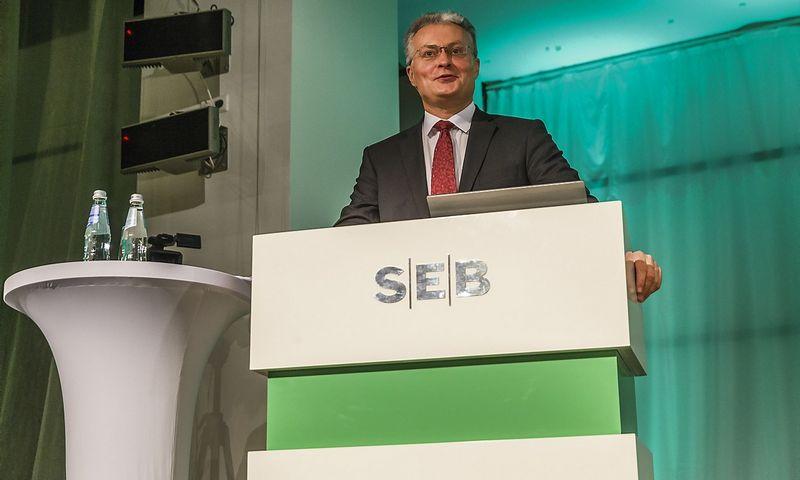 Gitanas Nauseda, SEB banko prezidento patarėjas, finansų analitikas. Vladimiro Ivanovo (VŽ) nuotr.