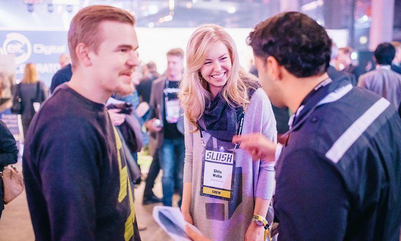"""""""Slush"""" konferencija ir startuolių mugė. Organizatorių nuotr."""
