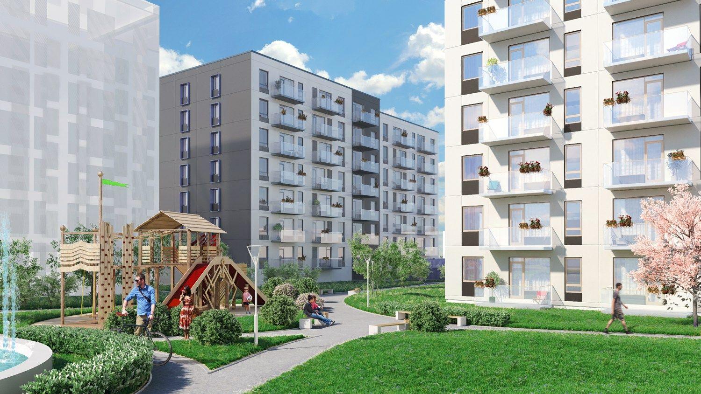 Buvusi� Vilniaus gr��t� gamykl� ver�ia daugiabu�i� kompleksu