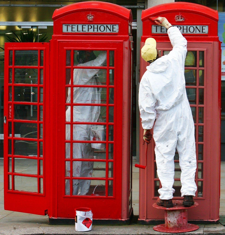 Raudonos brit� telefon� b�del�s tampa biurais