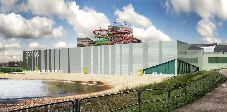 Vilniuje pradėjo statyti daugiafunkcinį sporto centrą