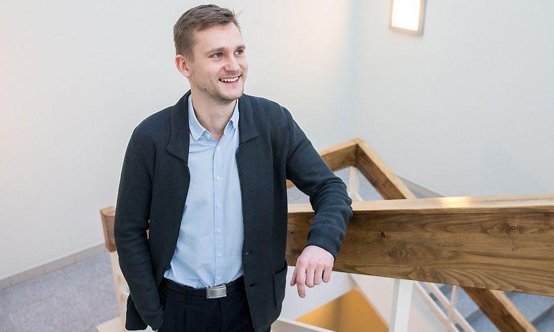 """Gintaras Matuzas, smulkaus ir vidutinio verslo finansavimo įmonės """"Capitalia"""" Lietuvoje vadovas. Juditos Grigelytės (VŽ) nuotr."""