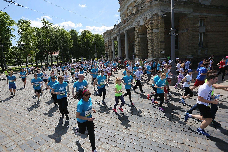 Sostin�je � �We Run Vilnius� b�gimas