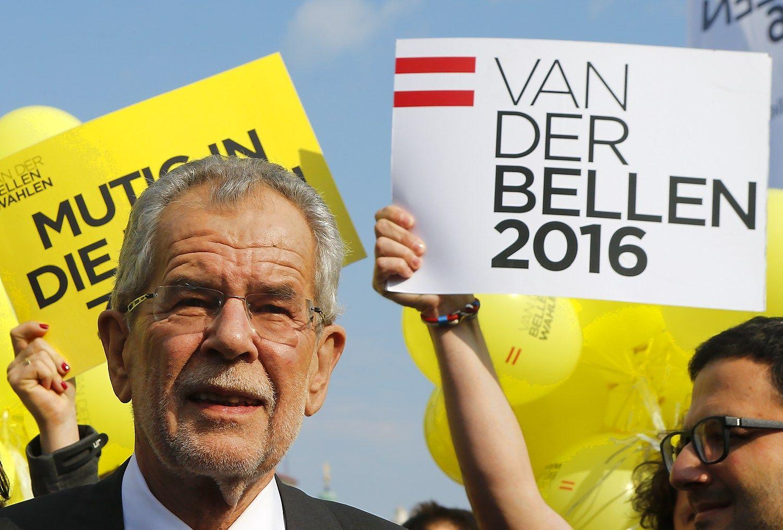 Austrijos prezidento rinkimai: per plauk� nuo kra�tutini� de�ini�j�