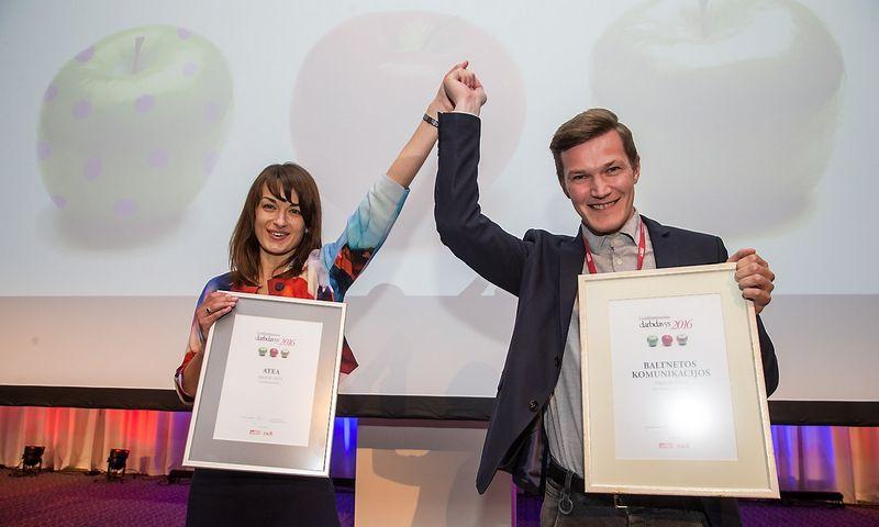 """Geidžiamiausio darbdavio apdovanojimuose šiemet triumfavo """"Atea"""" ir """"Baltnetos komunikacijos"""". Vladimiro Ivanovo (VŽ) nuotr."""