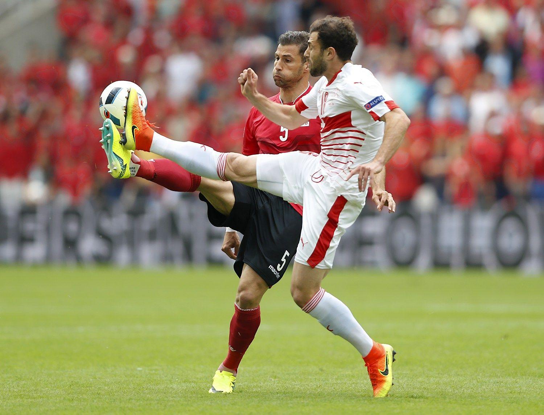 Šveicarijos rinktinė įveikė Albaniją