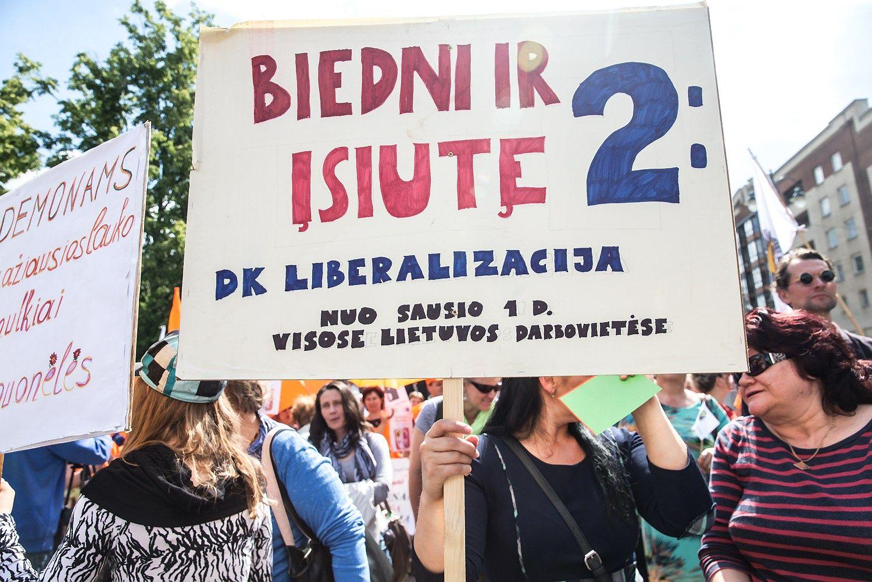 Prie Seimo – profsąjungų mitingas