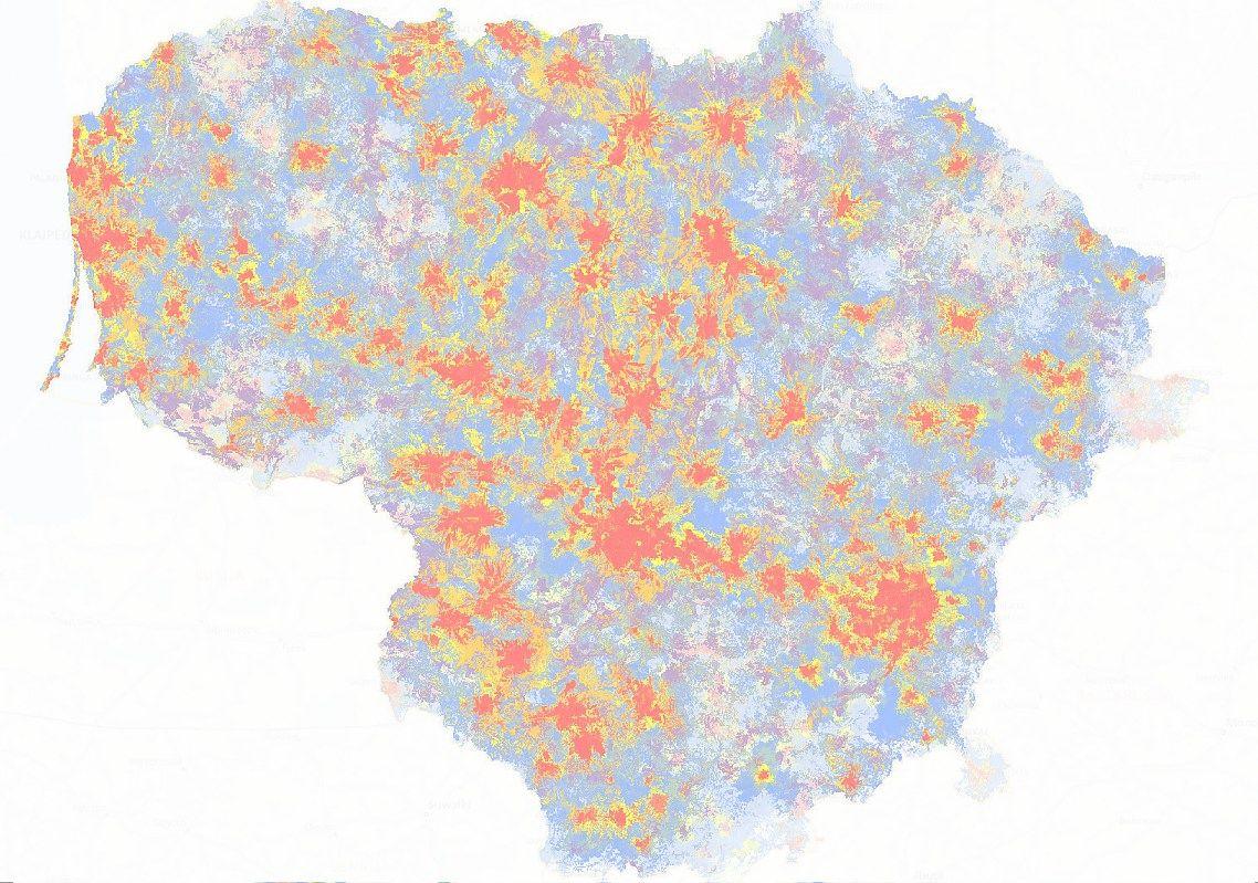 Nauji Lietuvos 4G �em�lapiai: padengta per 90%