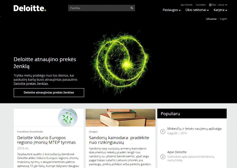 """""""Deloitte""""keičia prekės ženklą"""