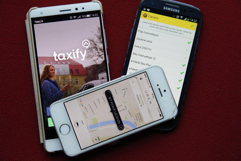 """""""Uber'į"""" Kaune aplenkė """"Taxify"""""""