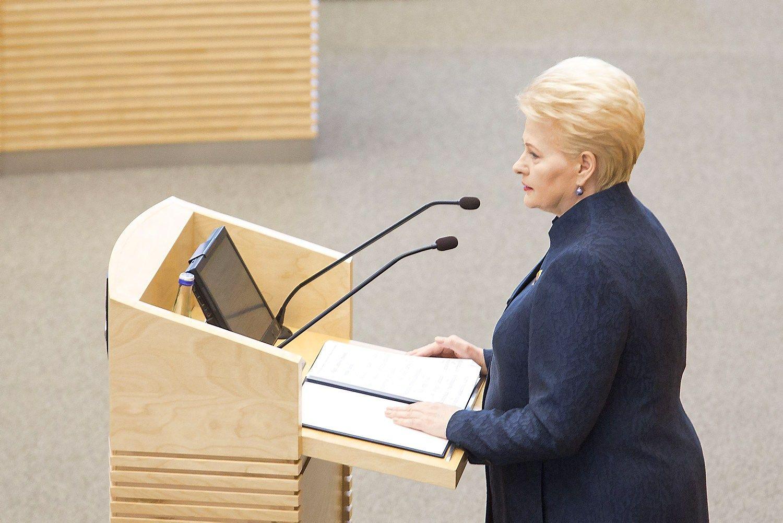"""Prezidentė taiso Seimo broką dėl """"startuolių vizos"""""""