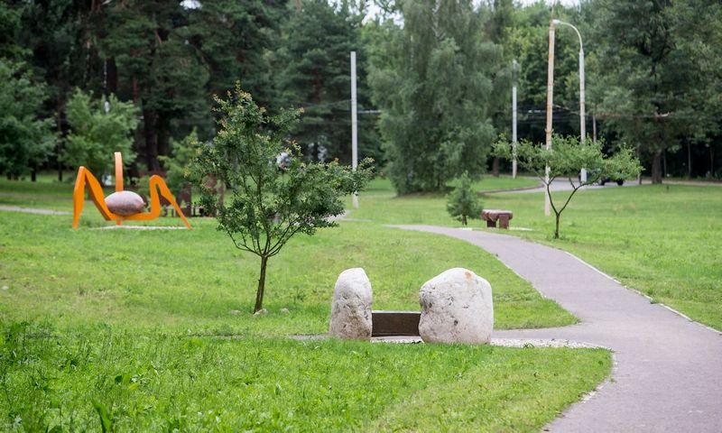 Antakalnio suoliukų parke. Juditos Grigelytės (VŽ) nuotr.