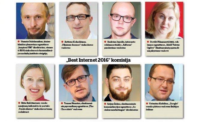"""""""Best Internet 2016"""": ant pjedestalo – geriausi skaitmeninės rinkodaros darbai"""
