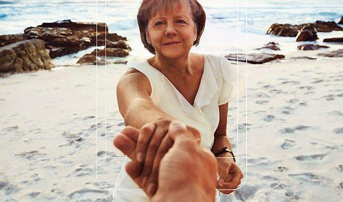 Reklama su Merkel ir Putinu Lietuvoje � ties pa�eidimo riba
