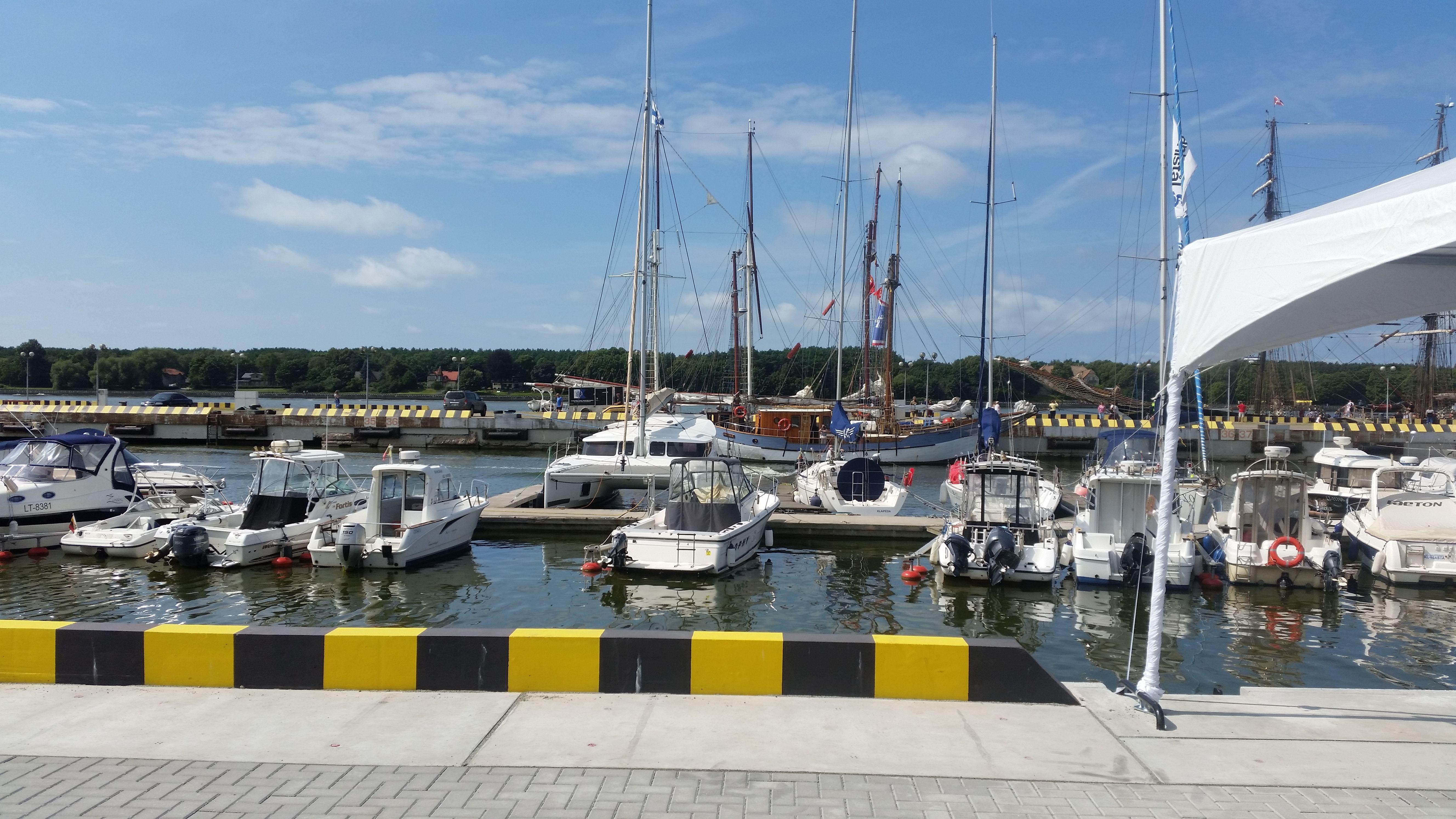 Atnaujintos krantin�s Klaip�doje leis priimti daugiau laiv�