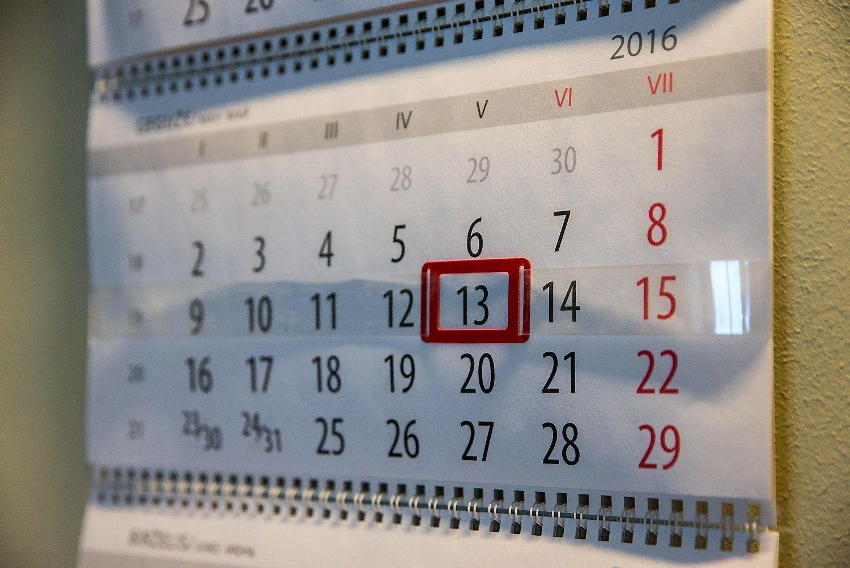 Rugpj��io m�n. mokes�i� mok�jimo ir deklaravimo kalendorius