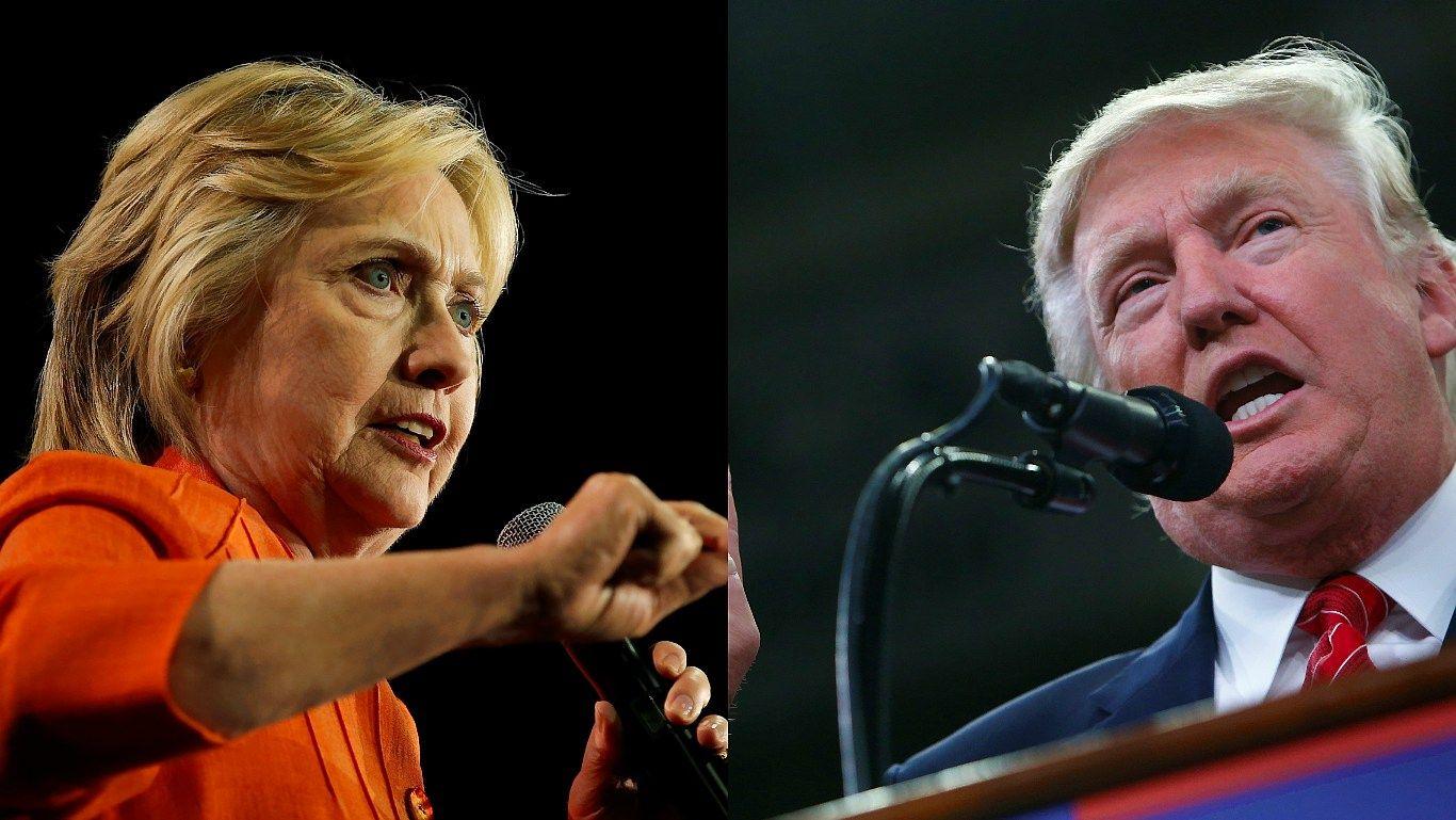 """Bloomberg"" apklausa: Clinton priekyje 6 proc. punktais"