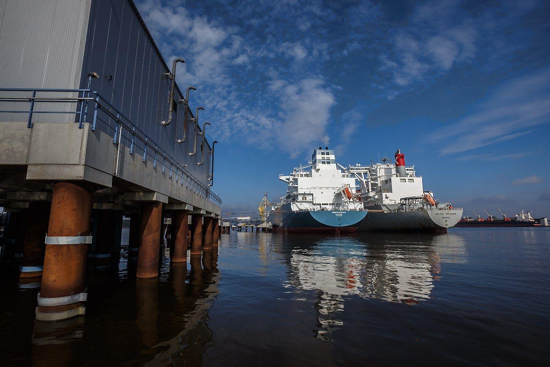 Per SkGD terminalą importuota 73% šalies gamtinių dujų