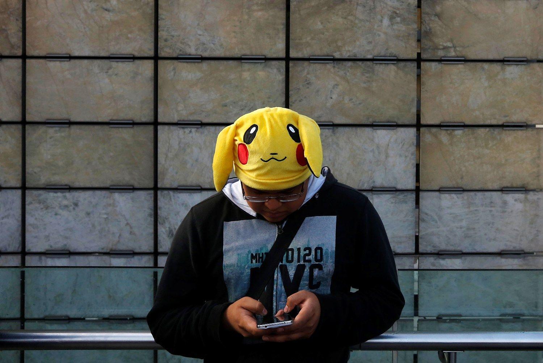 �Pokemon Go� populiarumas �iuo�ia �emyn