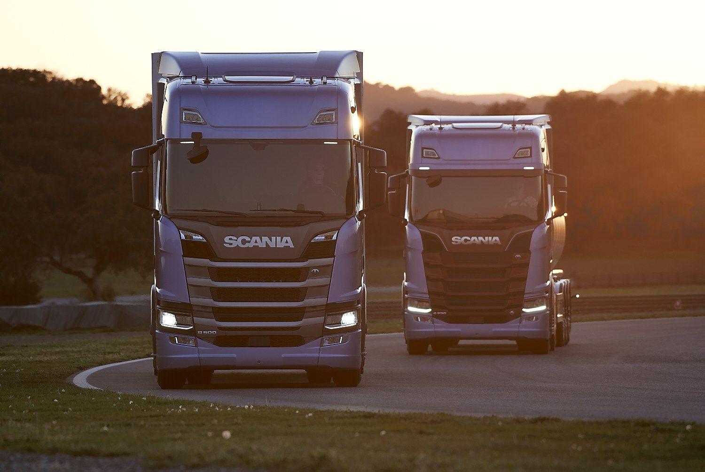 �Scania� dvide�imtme�io projektas � nauja vilkik� karta